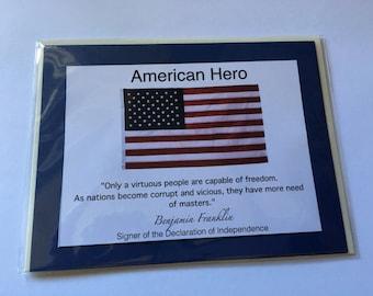 American Patriotic Blank - Free Shipping!