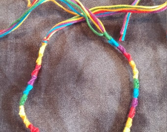 Tied Friendship Anklet (Rainbow)