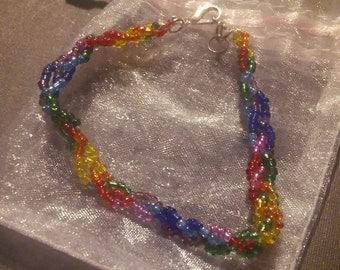 Rainbow braid bracelet