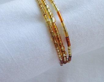 Goldenrod Triple Coil Bracelet