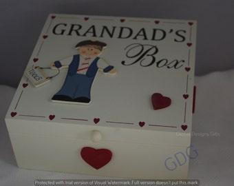 Memory keepsake Box Grandad Grandad's Memory Box f1139b