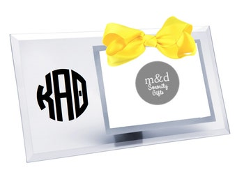 Kappa Alpha Theta Picture Frame   Glass picture frame with or without bow