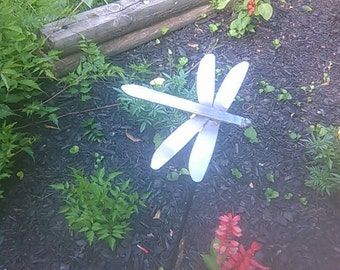 Dragon fly garden stake