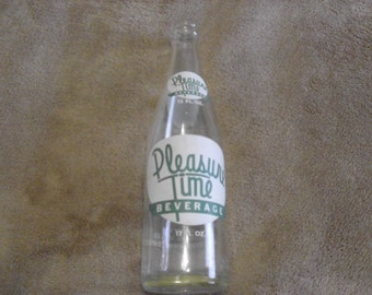 Vintage Pleasure Time Soda Bottle