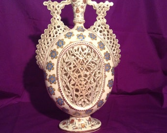 Reticulated Vase Etsy