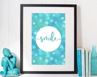 Smile - Printable Wall Art