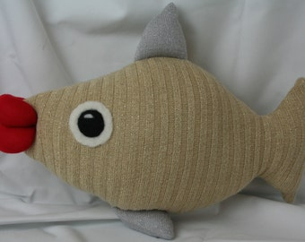 SweaterBaby Fish Pillow (Made from recycled sweaters)