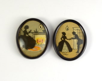 Mini Vintage Silhouettes - Set of 2