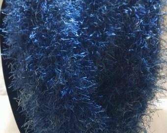 Designer Infinity Scarf in Blue