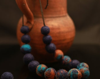 Beads interspersed with other colors