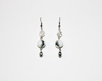 Three Tiered Metallic Earrings