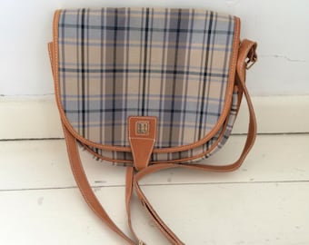 Daks plaid shoulder bag, perfect condition