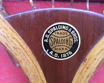 spalding favorite tennis racket 1905