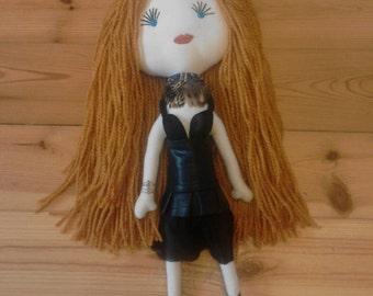 Lady 40,Rag doll, Handmade doll, Custom Rag Doll, custom cloth doll,personalized doll, Handgefertigte Puppe, Lappen-Puppe Individuelle