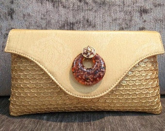 Cream Raw Silk Purse