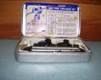 Vintage Speedy Fine Tube Threading Set for Brass #3775