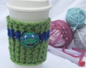 Sale** TMNT Cup Cozy (Leonardo inspired)
