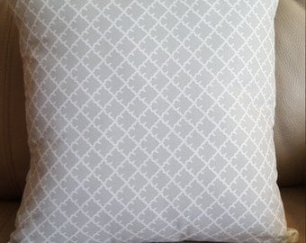 Gray & White Accent Pillow 14x14