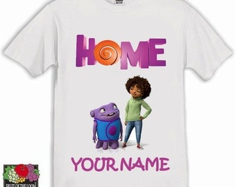 Home Personalised Kids Tshirt Ages 1-13 Available