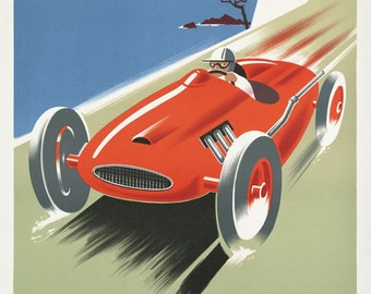 Cote D'Azure French Vintage Motor Racing Poster Art Reproduction Print Home Decor