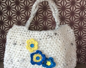 Hand crocheted large Plarn bag