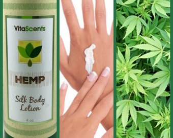 HEMP VitaScents Silk Body Lotion for glowing, youthful skin