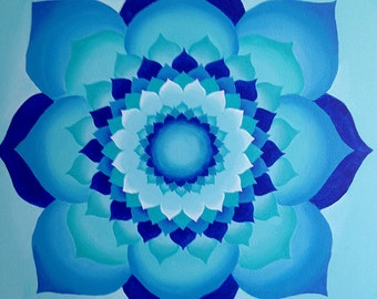 Blue Lotus Mandala