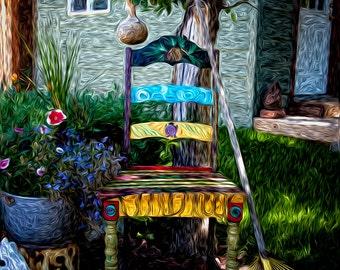 Santa Fe Chair  Photo Matte Art Print