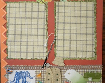 12x12 premade boy/man outdoor scrapbook layout