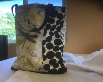 Black & White Dragonfly Bag