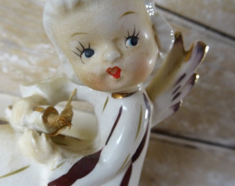 Vintage Angel Planter Shabby Chic Piece Lovely