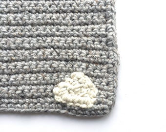 Baby blanket/ Grey Marble/ Cloud shape READY TO SHIP