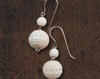 Makosh Earrings from a bone