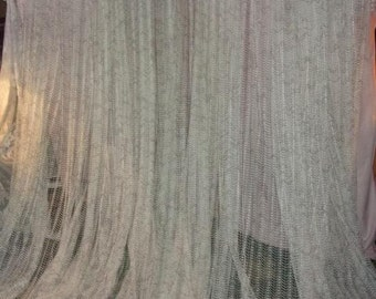 A huge curtain vintage, net, width 7 m, Panel, loft, 70 years