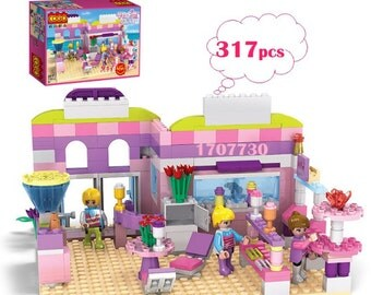 Ice cream shop minifigures girl gift educational assembled toy 317 pcs