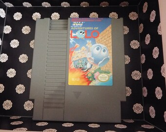 Nes Adventures of Lolo (Nintendo, 1989) Tested #13 with dust jacket