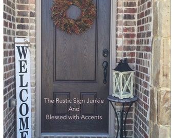 large welcome signs rustic wood welcome signs welcome porch signs front porch decor - Porch Decor