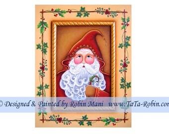 260 Woodland Santa Decorative Painting Pattern