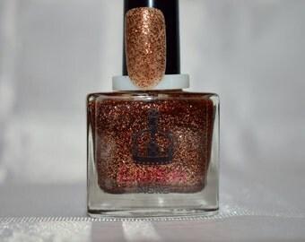 Cholocate metallic 10ml glitter nail polish