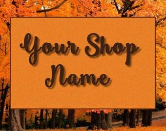 Orange Fall Banner, Shop Banner Set, Nature Banner, Shop Banner, Graphic Design, Banner Design, Cover Photo, Premade Banner