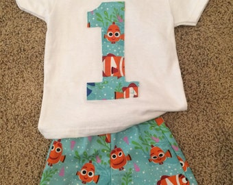 Finding Nemo birthday outfit
