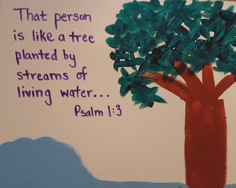 Psalm 1 Canvas Painting