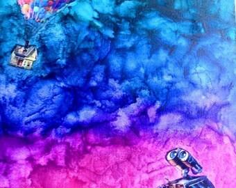 Wall-E Up Canvas
