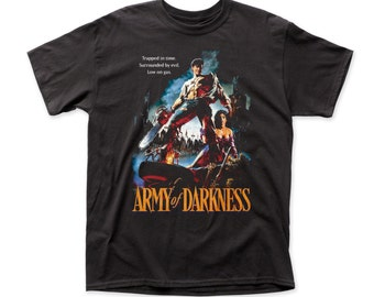 Army Of Darkness Trapped In Time T-shirt - ARMY02(Black)