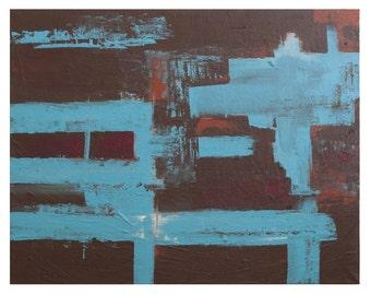 "Handmade acrylic painting ""Blue Jazz"""
