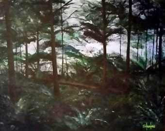 Quiet Forest, Acrylic on Canvas 16X20