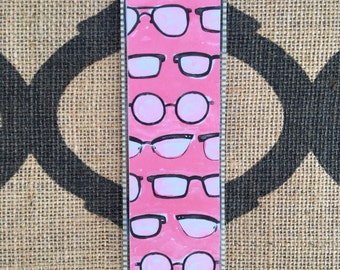 Pink Hipster Laminated Bookmark