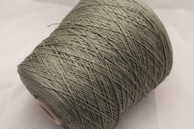 machine knitting yarn on cones
