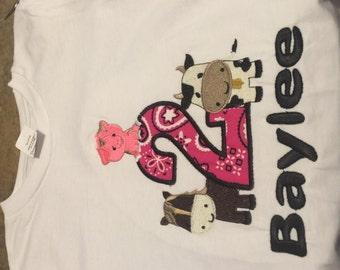 Farm Animal 2nd Birthday Shirt