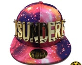Tsundere Arcylic Letter Snapback Galaxy Red Hat